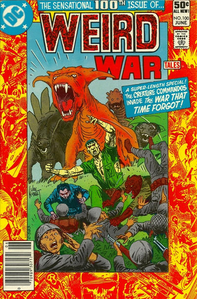 Cover for Weird War Tales (DC, 1971 series) #100 [Newsstand]
