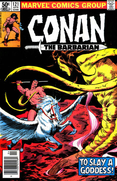 Cover for Conan the Barbarian (Marvel, 1970 series) #121 [Newsstand Edition]