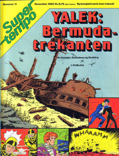 Cover for Supertempo (Hjemmet / Egmont, 1979 series) #11/1980