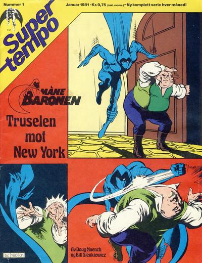 Cover for Supertempo (Hjemmet / Egmont, 1979 series) #1/1981