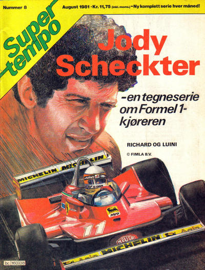 Cover for Supertempo (Hjemmet / Egmont, 1979 series) #8/1981