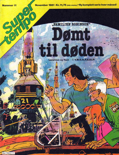 Cover for Supertempo (Hjemmet / Egmont, 1979 series) #11/1981