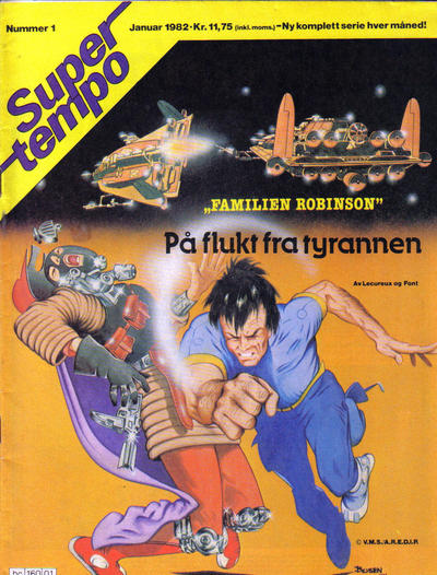 Cover for Supertempo (Hjemmet / Egmont, 1979 series) #1/1982