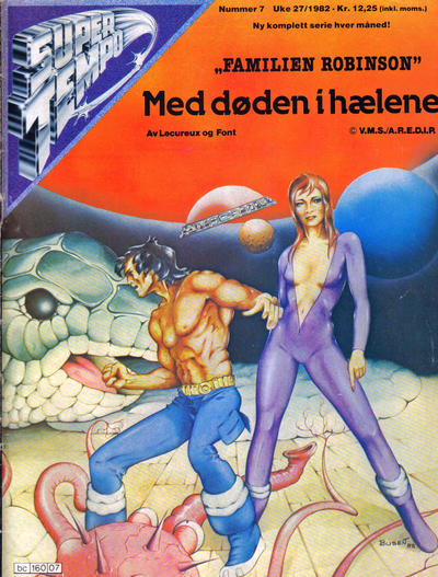 Cover for Supertempo (Hjemmet / Egmont, 1979 series) #7/1982