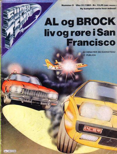 Cover for Supertempo (Hjemmet / Egmont, 1979 series) #8/1982