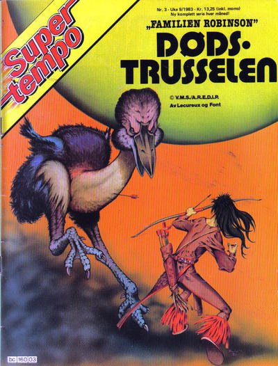 Cover for Supertempo (Hjemmet / Egmont, 1979 series) #3/1983