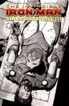 Cover Thumbnail for Invincible Iron Man (2008 series) #20 [Black-and-White Variant Edition]