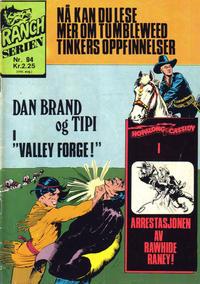 Cover Thumbnail for Ranchserien (Illustrerte Klassikere / Williams Forlag, 1968 series) #94