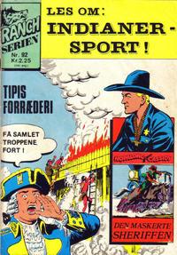 Cover Thumbnail for Ranchserien (Illustrerte Klassikere / Williams Forlag, 1968 series) #92
