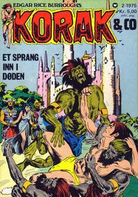 Cover Thumbnail for Korak & Co (Illustrerte Klassikere / Williams Forlag, 1973 series) #2/1975