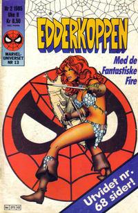 Cover Thumbnail for Edderkoppen (Semic, 1984 series) #2/1985