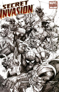 Cover Thumbnail for Secret Invasion (Marvel, 2008 series) #7 [Limited Edition Sketch Variant]