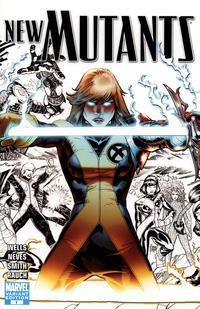 Cover Thumbnail for New Mutants (Marvel, 2009 series) #1 [Cover E - Adam Kubert Black and White]
