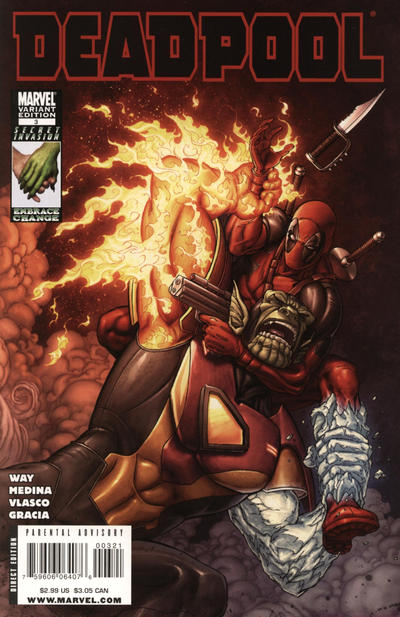 Cover for Deadpool (Marvel, 2008 series) #3 [2nd Print Variant]