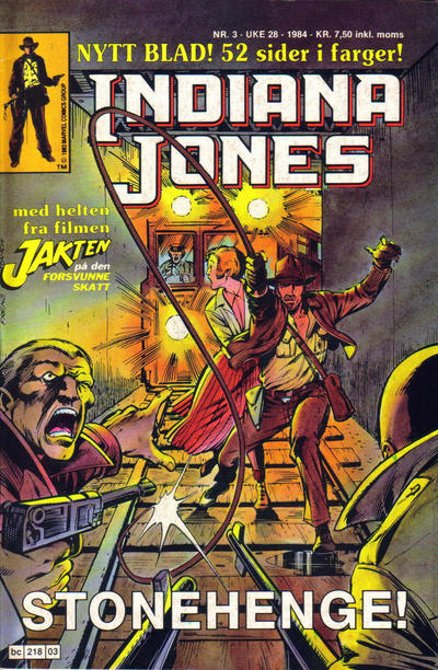 Cover for Indiana Jones (Semic, 1984 series) #3/1984