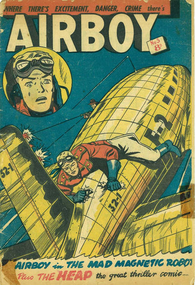 Cover for Airboy (Horwitz, 1953 series) #5