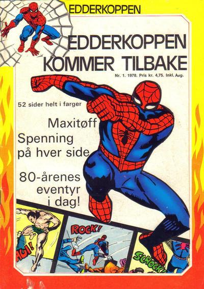 Cover for Edderkoppen (Atlantic Forlag, 1978 series) #1/1978