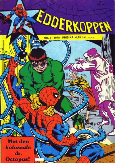 Cover for Edderkoppen (Atlantic Forlag, 1978 series) #8/1978