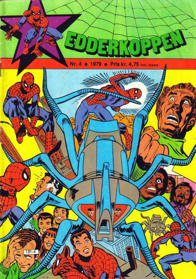 Cover for Edderkoppen (Atlantic Forlag, 1978 series) #4/1979