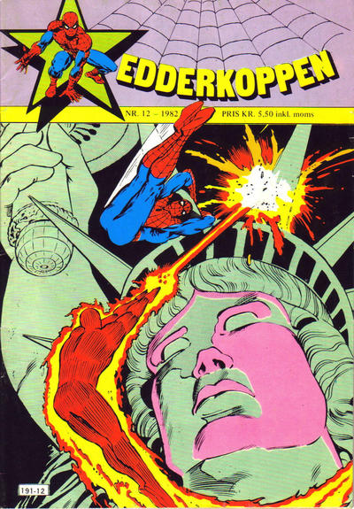 Cover for Edderkoppen (Atlantic Forlag, 1978 series) #12/1982