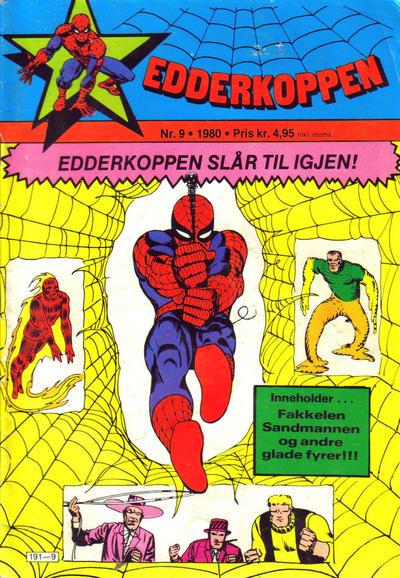 Cover for Edderkoppen (Atlantic Forlag, 1978 series) #9/1980