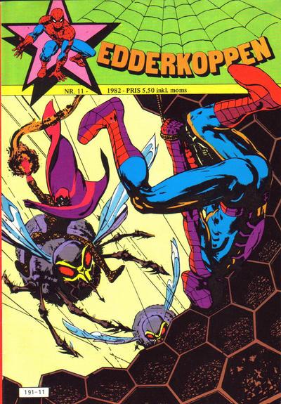 Cover for Edderkoppen (Atlantic Forlag, 1978 series) #11/1982