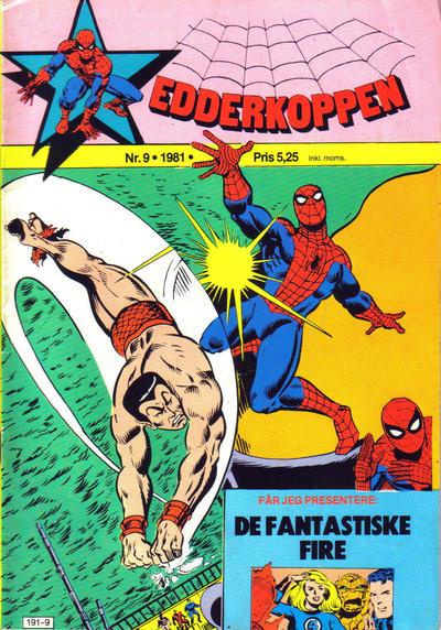 Cover for Edderkoppen (Atlantic Forlag, 1978 series) #9/1981