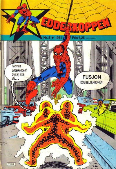 Cover for Edderkoppen (Atlantic Forlag, 1978 series) #8/1981