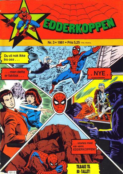 Cover for Edderkoppen (Atlantic Forlag, 1978 series) #3/1981