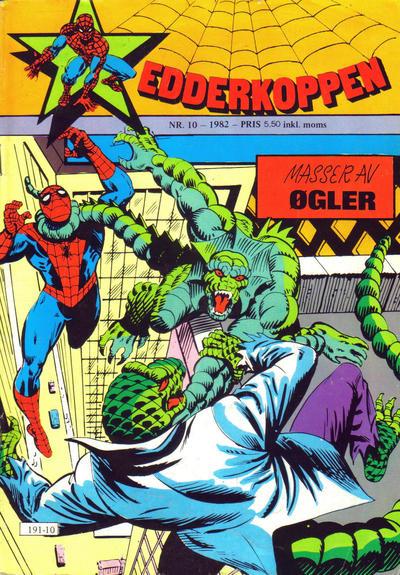 Cover for Edderkoppen (Atlantic Forlag, 1978 series) #10/1982