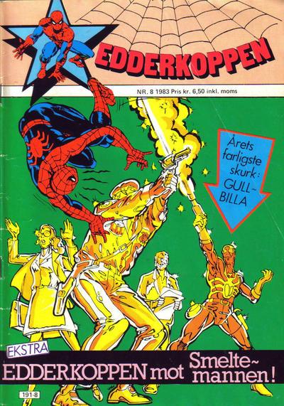Cover for Edderkoppen (Atlantic Forlag, 1978 series) #8/1983