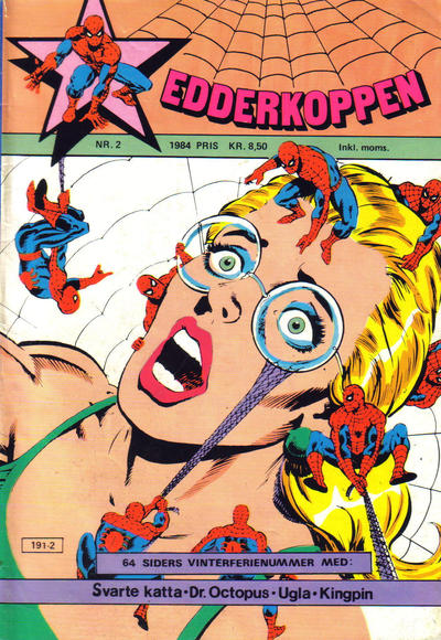 Cover for Edderkoppen (Atlantic Forlag, 1978 series) #2/1984