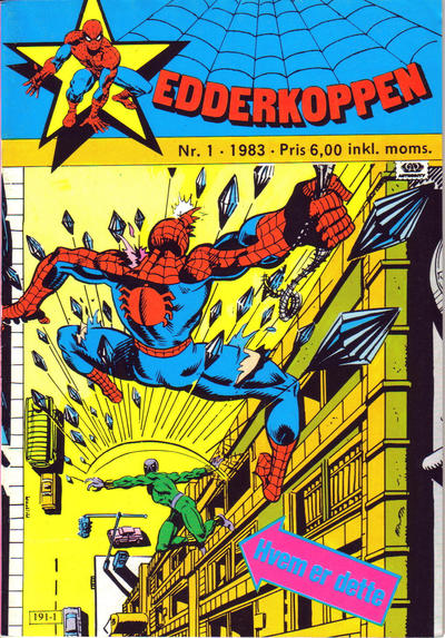 Cover for Edderkoppen (Atlantic Forlag, 1978 series) #1/1983