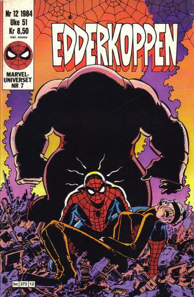 Cover for Edderkoppen (Semic, 1984 series) #12/1984