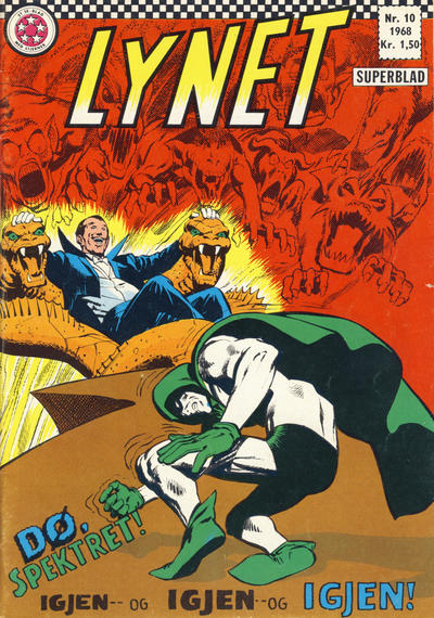 Cover for Lynet (Serieforlaget / Se-Bladene / Stabenfeldt, 1967 series) #10/1968