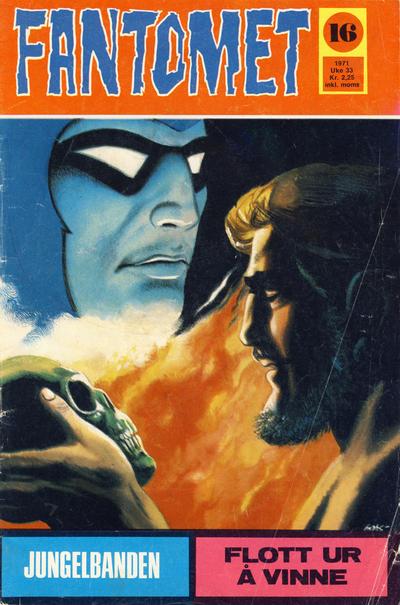 Cover for Fantomet (Romanforlaget, 1966 series) #16/1971