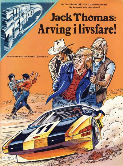 Cover for Supertempo (Hjemmet / Egmont, 1979 series) #10/1982
