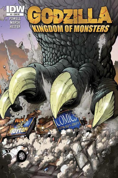 Cover for Godzilla: Kingdom of Monsters (IDW, 2011 series) #1 [Brave New World Comics Cover]