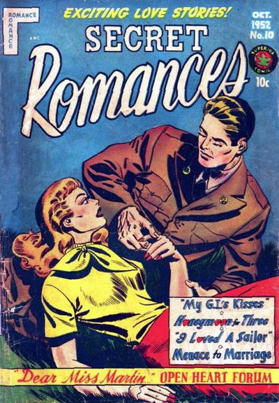 Cover for Secret Romances (Superior Publishers Limited, 1951 series) #10