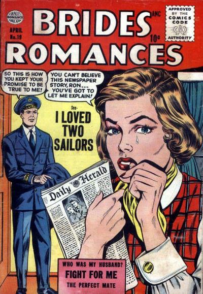 Cover for Brides Romances (Quality Comics, 1953 series) #19