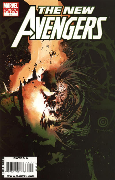 Cover for New Avengers (Marvel, 2005 series) #51 [Chris Bachalo Variant Cover]