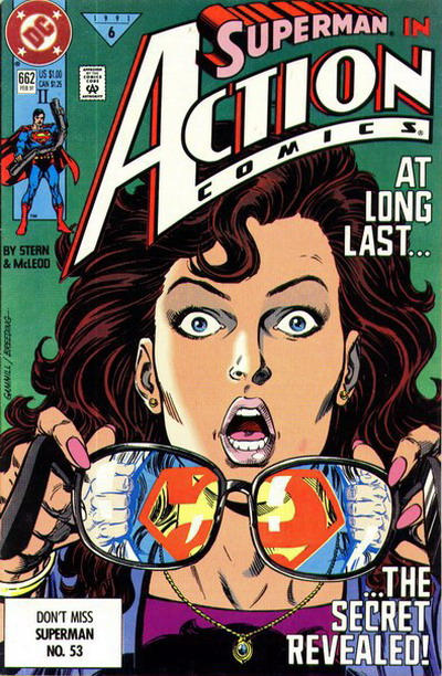 Cover for Action Comics (DC, 1938 series) #662 [Direct]