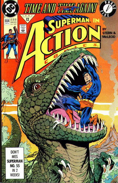 Cover for Action Comics (DC, 1938 series) #664 [Direct]
