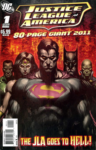 Cover for JLA 80-Page Giant 2011 (DC, 2011 series) #1