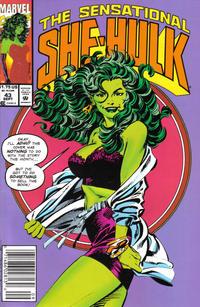 Cover Thumbnail for The Sensational She-Hulk (Marvel, 1989 series) #43 [Newsstand Edition]