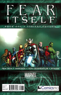 Cover Thumbnail for Fear Itself (Marvel, 2011 series) #1 [Limited ComicsPRO Members Only Variant Cover]