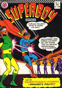 Cover Thumbnail for Superboy (Serieforlaget / Se-Bladene / Stabenfeldt, 1967 series) #1/1967