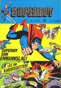Cover Thumbnail for Superboy (Illustrerte Klassikere / Williams Forlag, 1969 series) #4/1976