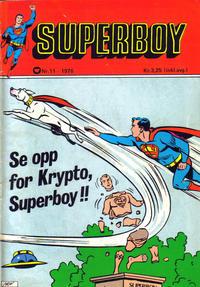 Cover Thumbnail for Superboy (Illustrerte Klassikere / Williams Forlag, 1969 series) #11/1976