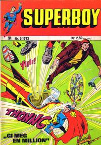 Cover Thumbnail for Superboy (Illustrerte Klassikere / Williams Forlag, 1969 series) #5/1973